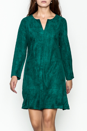 Jade Faux Suede Dress - Front cropped