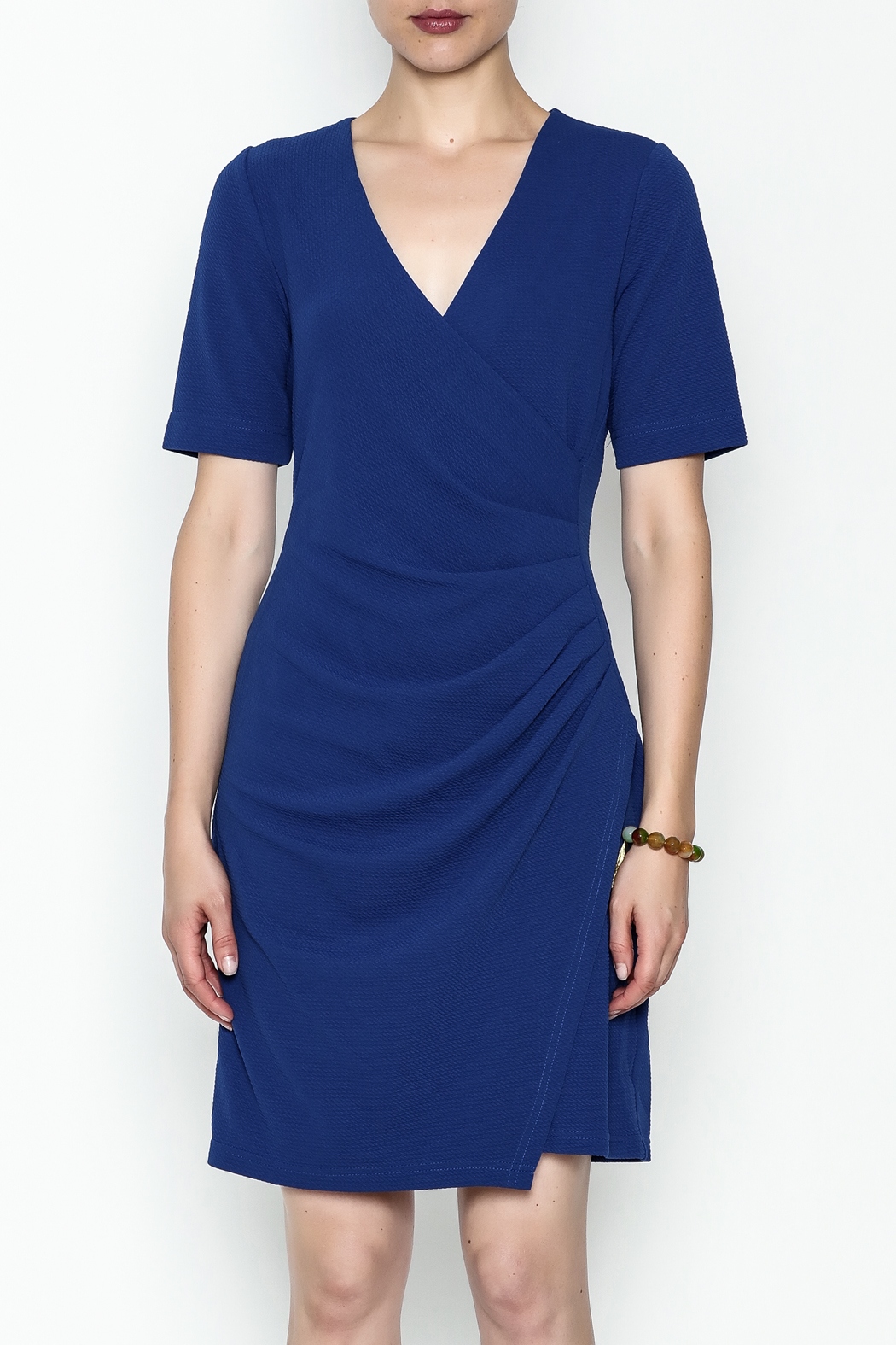 Jade Faux Wrap Dress - Front Full Image