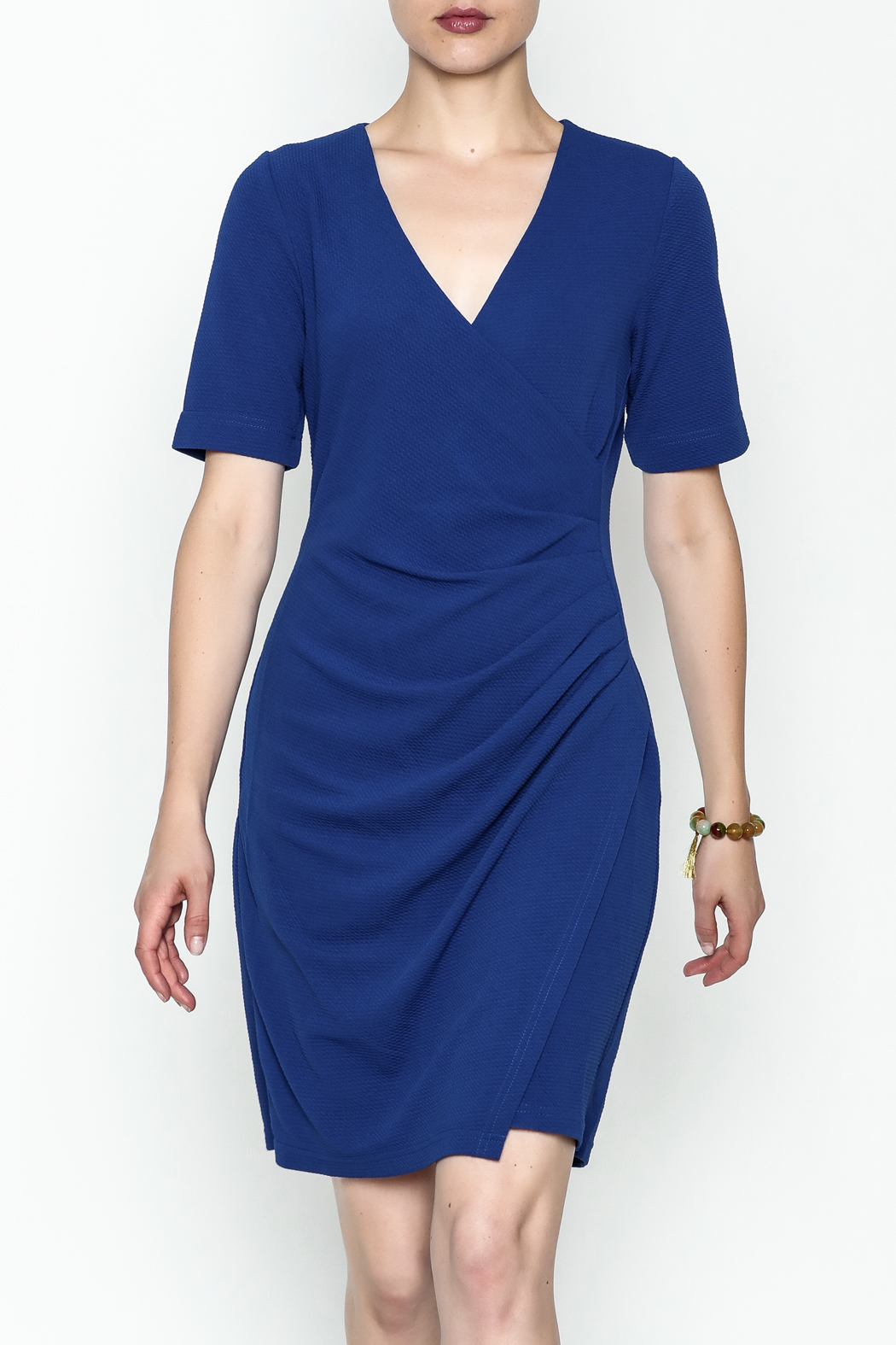 Jade Faux Wrap Dress - Front Cropped Image