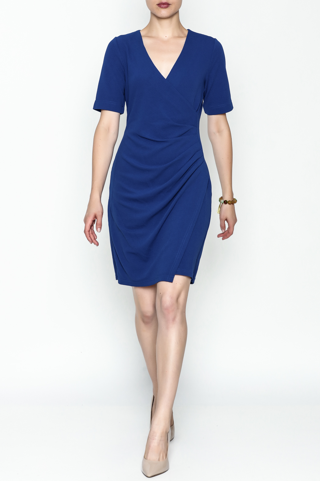 Jade Faux Wrap Dress - Side Cropped Image