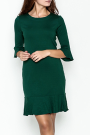 Jade Flounce Hem Shift Dress - Product Mini Image