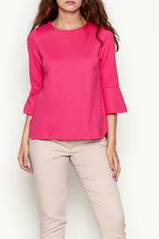 Jade Flounce Sleeve Top - Product Mini Image