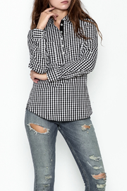 Jade Gingham Shirt - Front cropped