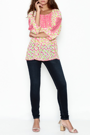 Jade Lace Trim Blouse - Side cropped