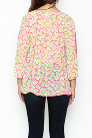 Jade Lace Trim Blouse - Back cropped
