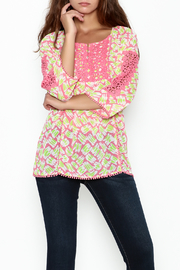 Jade Lace Trim Blouse - Product Mini Image