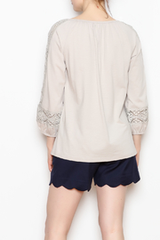 Jade Lace Trim Top - Back cropped