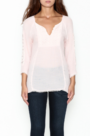 Jade Lace Trim Top - Front full body