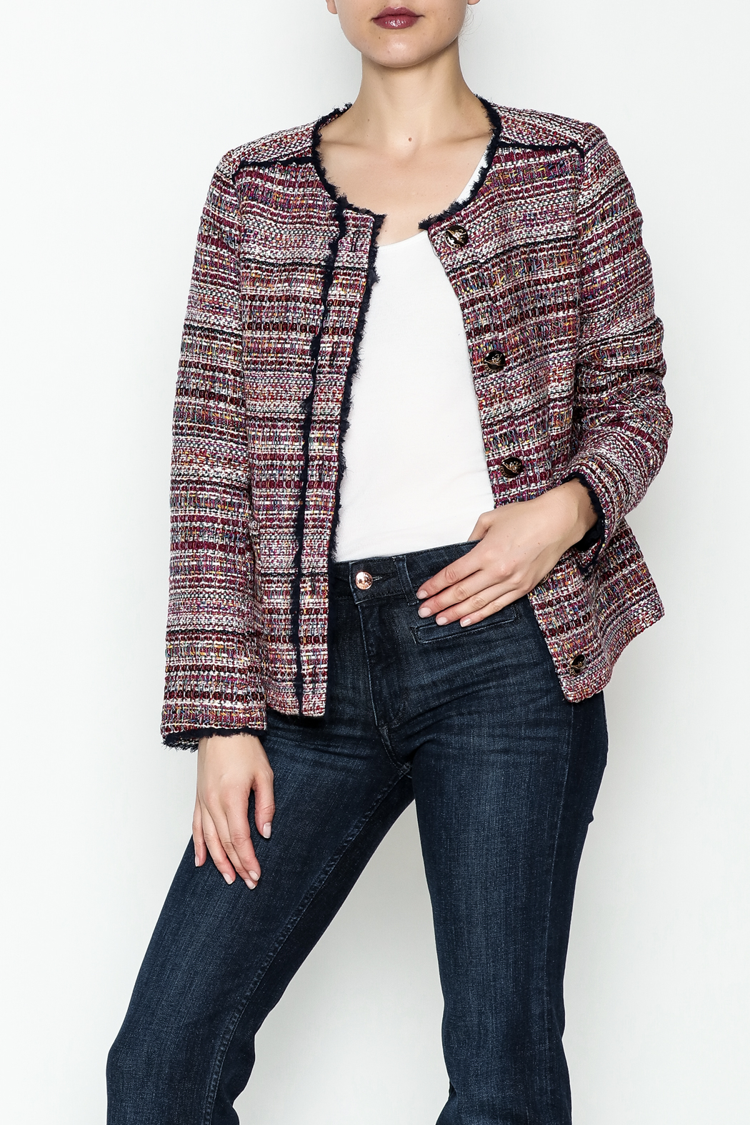 Jade Multi Tweed Jacket - Main Image