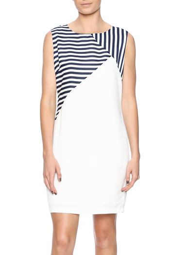 Shoptiques Product: Navy Striped Dress - main