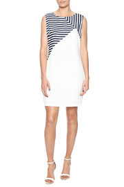 Shoptiques Product: Navy Striped Dress - Front full body