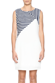Shoptiques Product: Navy Striped Dress - Side cropped