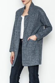 Jade Open Front Coat - Front cropped