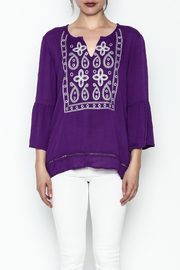 Jade Paisley Embrodered Top - Front full body