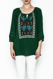 Jade Paisley Embroderied Top - Front full body