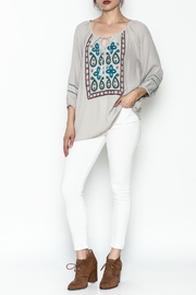 Jade Paisley Embroderied Top - Side cropped