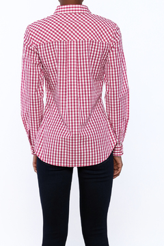 Jade Pink Checkered Blouse - Alternate List Image