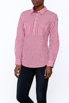 Jade Pink Checkered Blouse - Product List Image