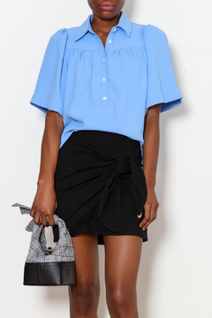 FRNCH Jade Pleated Button Down - Product List Image