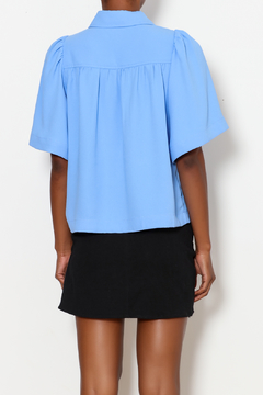 FRNCH Jade Pleated Button Down - Alternate List Image