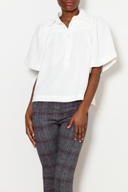 FRNCH Jade Pleated Button Down - Product Mini Image