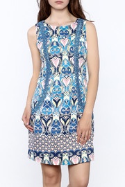 Jade Elegant Blue Sheath Dress - Product Mini Image