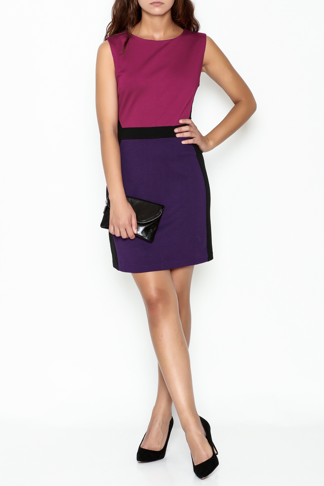 Jade Ponte Knit Dress - Side Cropped Image