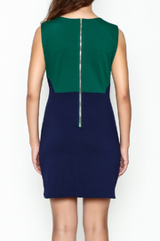 Jade Ponte Knit Dress - Back cropped