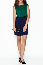 Jade Ponte Knit Dress - Side cropped