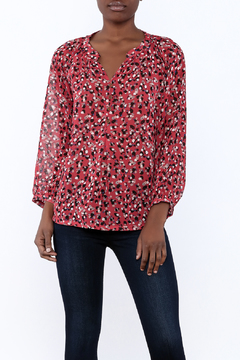 Jade Red Marble Blouse - Product List Image