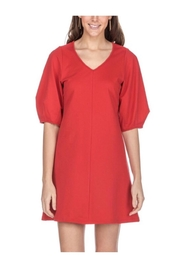 Jade Red v-Neck Dress - Product Mini Image