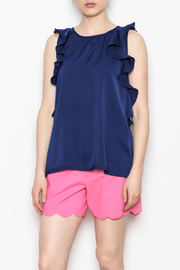 Jade Ruffle Edged Top - Front cropped