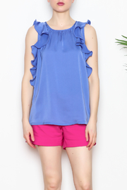 Jade Ruffle Edged Top - Product Mini Image