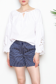 Jade Ruffle Trim Shorts - Front cropped