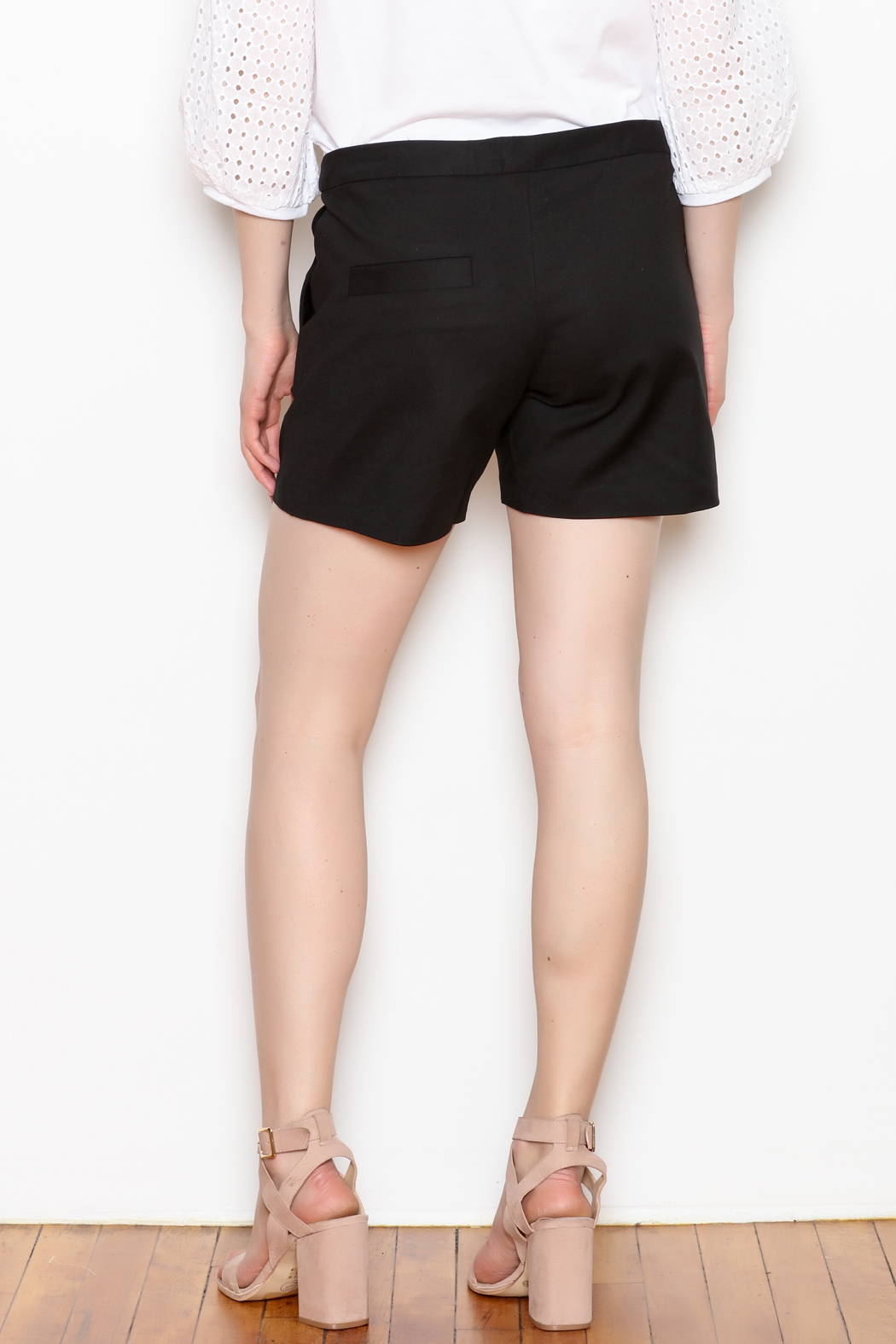 Jade Ruffle Trim Shorts - Back Cropped Image