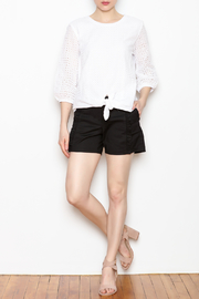 Jade Ruffle Trim Shorts - Front full body