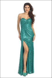Mayqueen Jade Sequin Long Dress - Product Mini Image