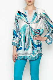 Jade Stitches Tunic Top - Product Mini Image