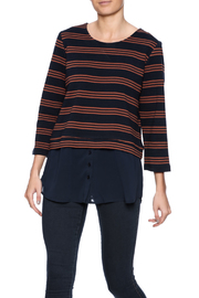 Jade Stripe Shirttail Top - Front cropped