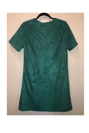 Jade Suede Green Dress - Front full body