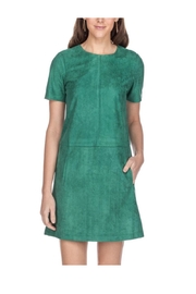 Jade Suede Green Dress - Product Mini Image