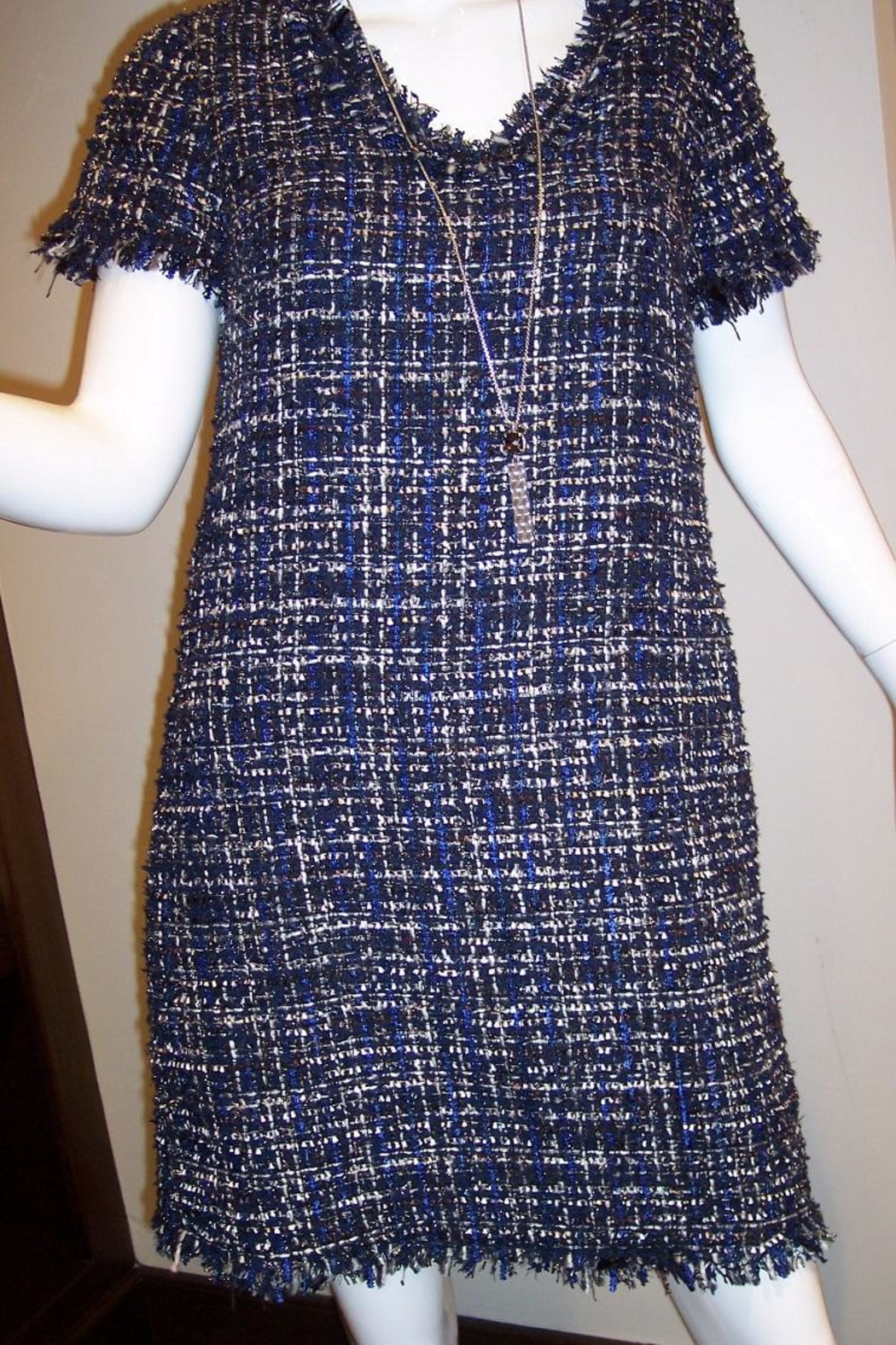 Jade Texture Weave Dress - Front Full Image
