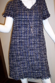 Jade Texture Weave Dress - Front full body