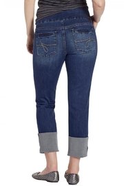 JAG Cuffed Distressed Jeans - Front full body