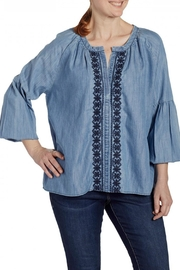 JAG Embroidered Denim Shirt - Front cropped
