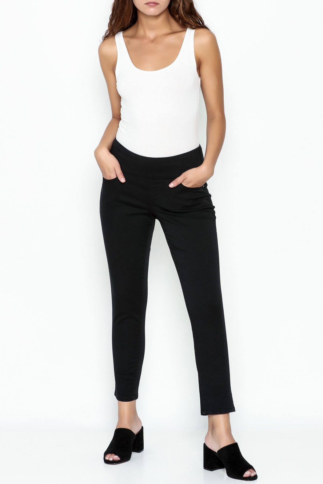 JAG Black Skinny Jeans - Side Cropped Image