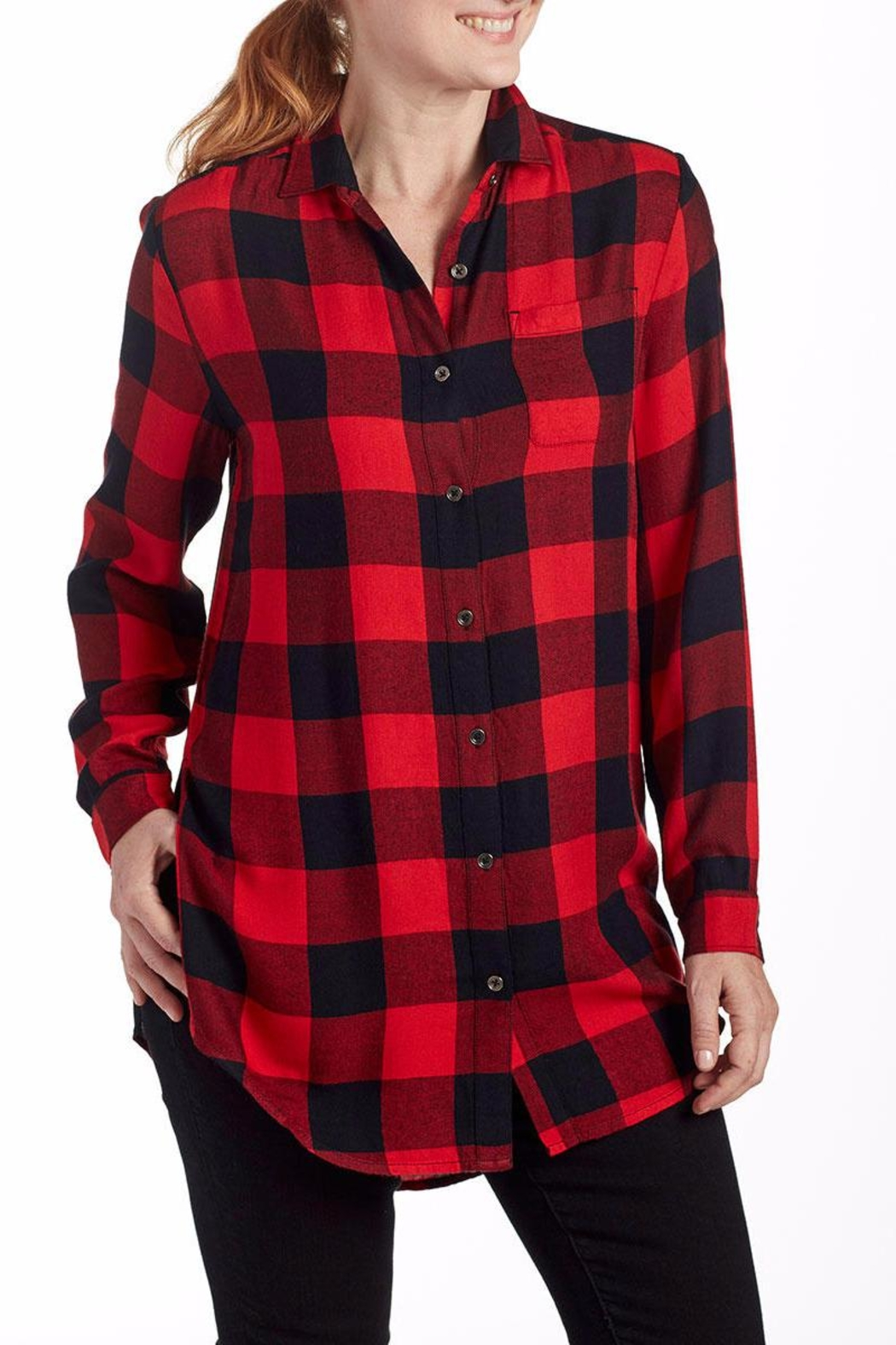 JAG Plaid Blouse Tunic - Main Image