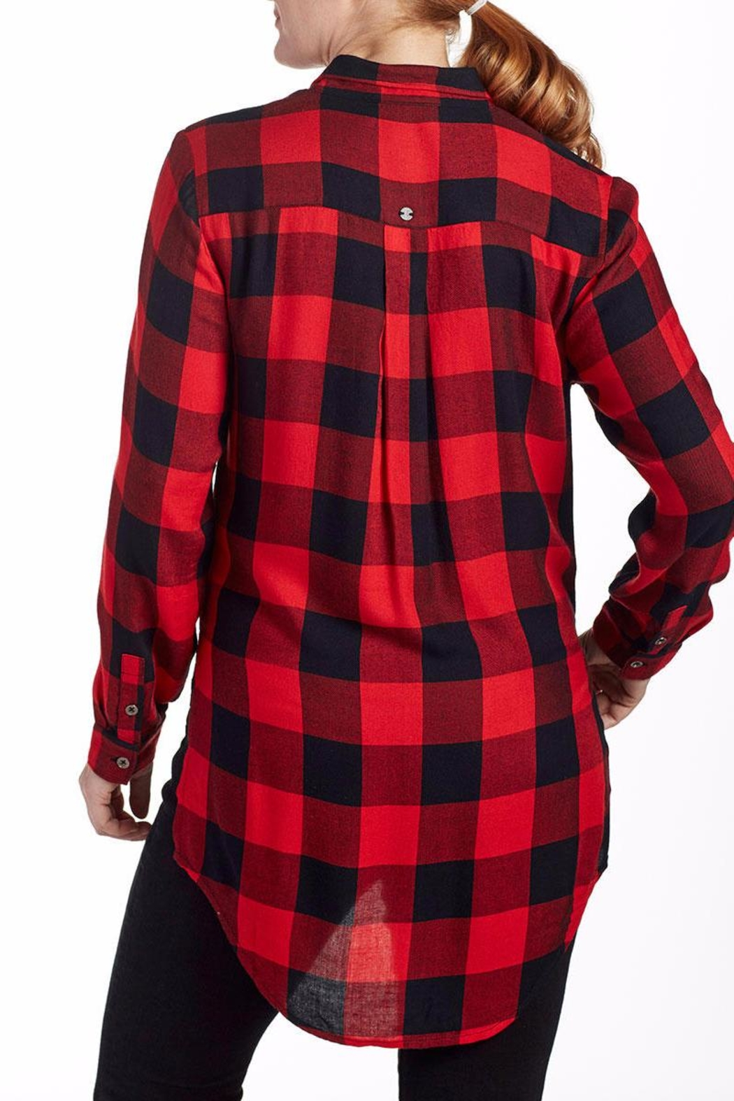 JAG Plaid Blouse Tunic - Front Full Image