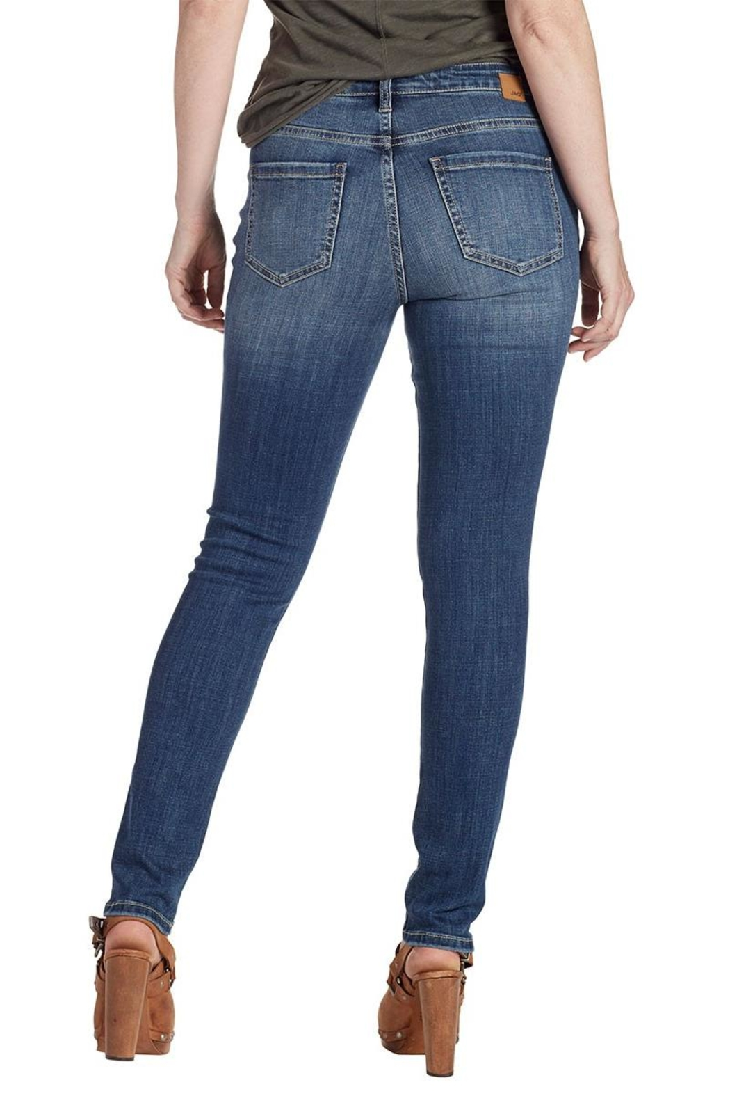 JAG Jeans Embroidered Skinny Jeans - Front Full Image