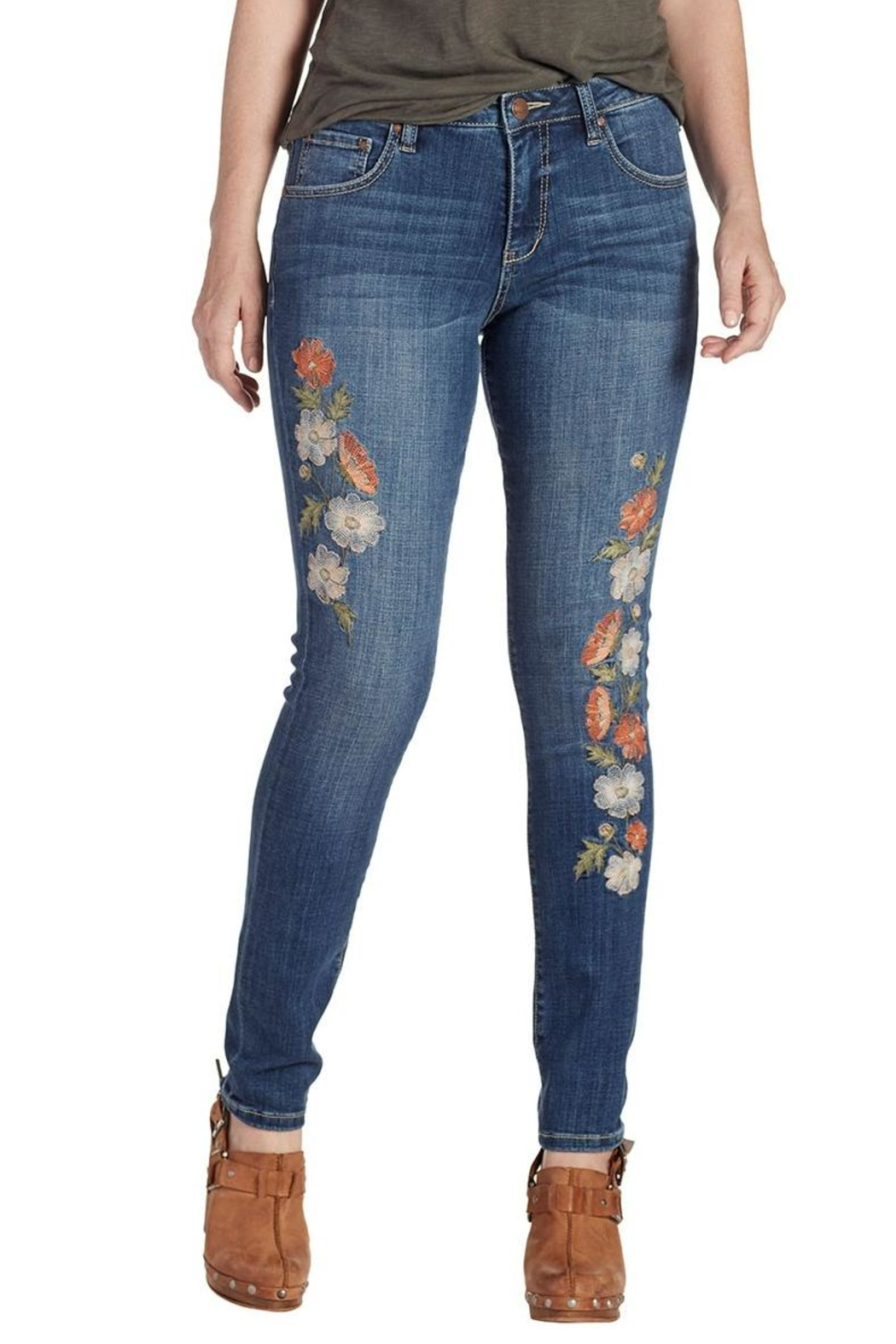 JAG Jeans Embroidered Skinny Jeans - Main Image